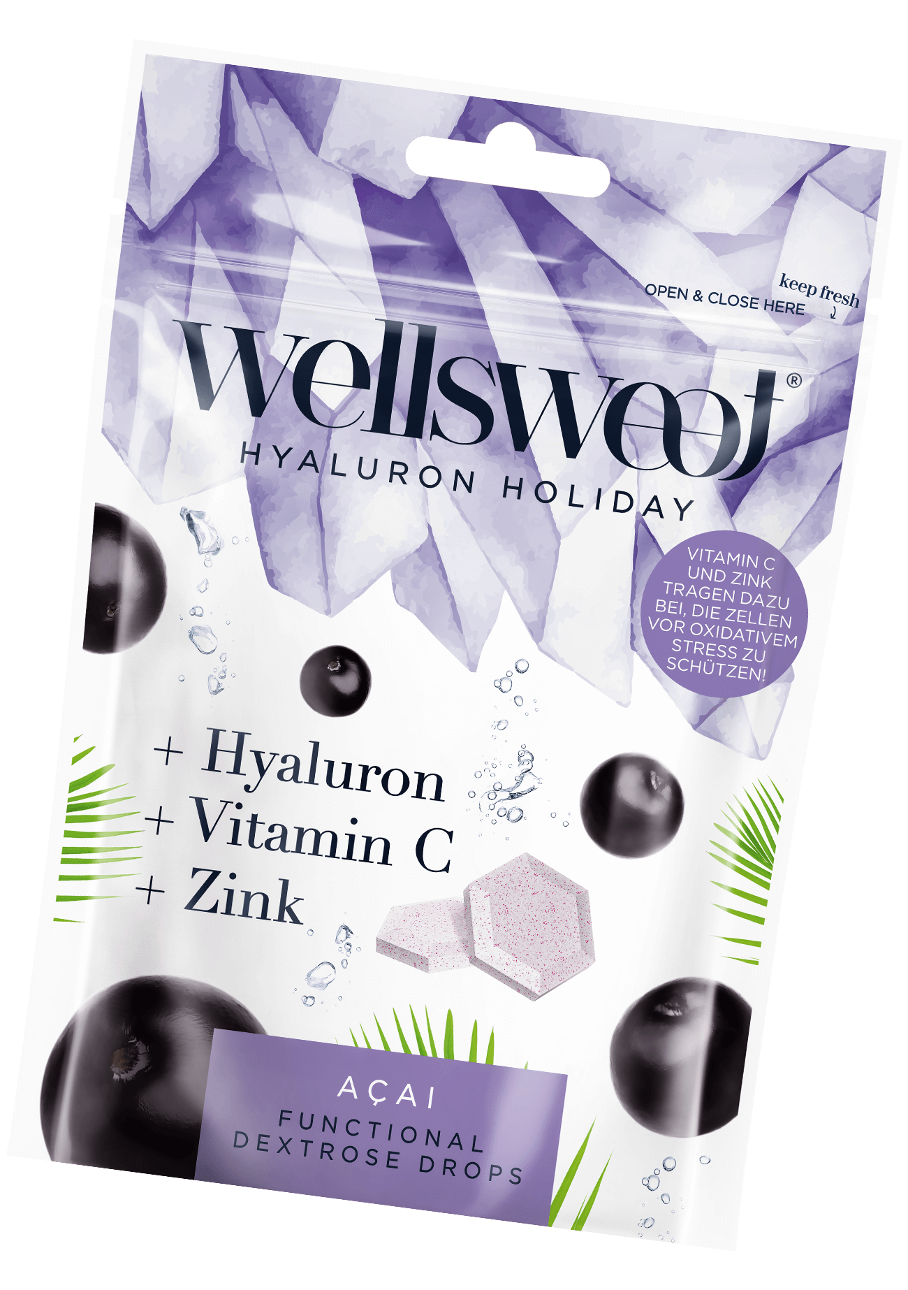 Wellsweet - Love is in the hair - Acai Packung