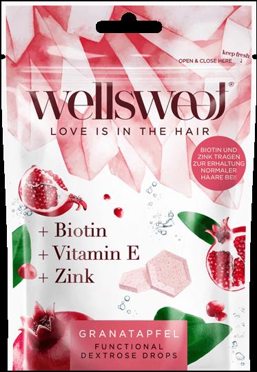 Wellsweet - Love is in the hair - Grantapfel Packung