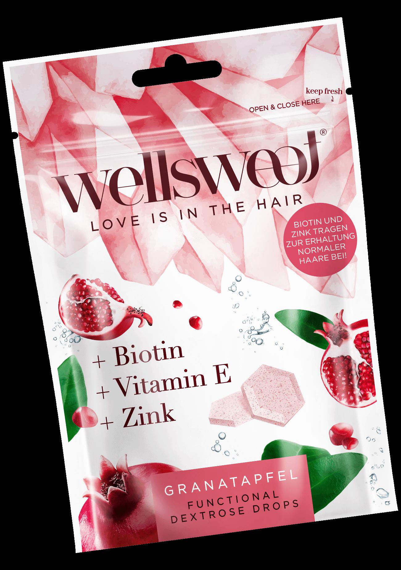 Wellsweet - Love is in the hair - Granatapfel Packung
